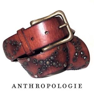 Genuine Leather Gold Embossed Bohemian Belt